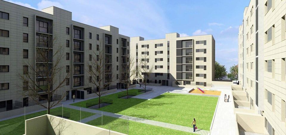 156 viviendas en gefate arquitectos madrid estudio de - Trabajo de arquitecto en madrid ...